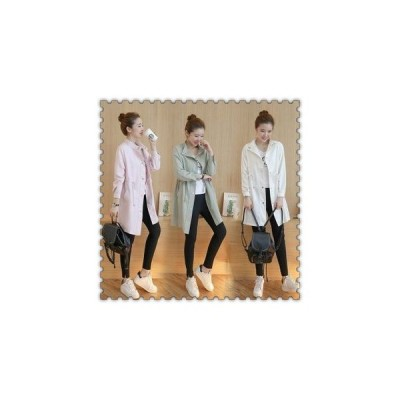 トレンチコートレディーススプリングコート秋春ロングアウターカジュアル20代30代40代ファッション