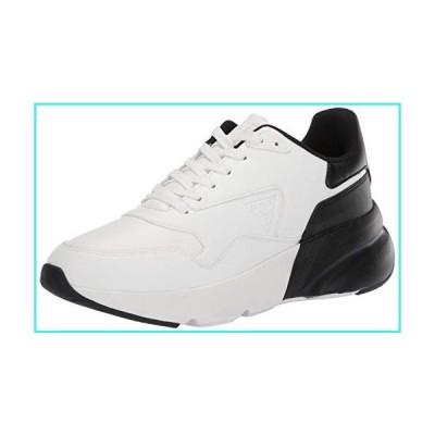 【新品】GUESS Men's Theros Sneaker, White, 8(並行輸入品)