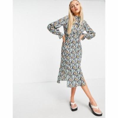 インフルエンス Influence レディース ワンピース ワンピース・ドレス long sleeve midi dress in floral print マルチカラー