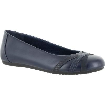 イージーストリート Easy Street レディース スリッポン・フラット シューズ・靴 Derry Ballet Flats Navy