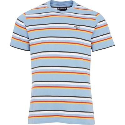バブアー Barbour メンズ Tシャツ トップス River T-Shirt Pwder Blue BL