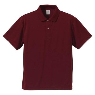 ユナイテッドアスレ カジュアルウェア 4.1オンス ドライポロシャツ 16 バーガンディ ポロシャツ(591001-72)