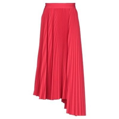 エムエスジーエム MSGM ロングスカート レッド 40 ポリエステル 98% / ポリウレタン 2% ロングスカート