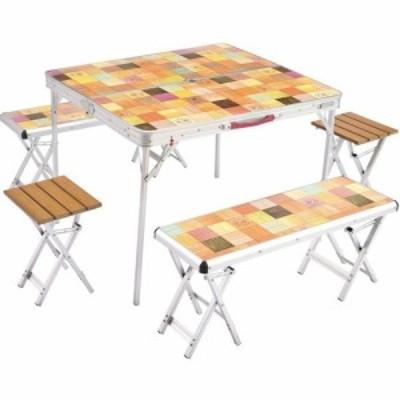 コールマン Coleman キャンプ BBQ テーブル チェア セット ナチュラルモザイク ファミリーリビングセットプラス 2000026757【ktkt】
