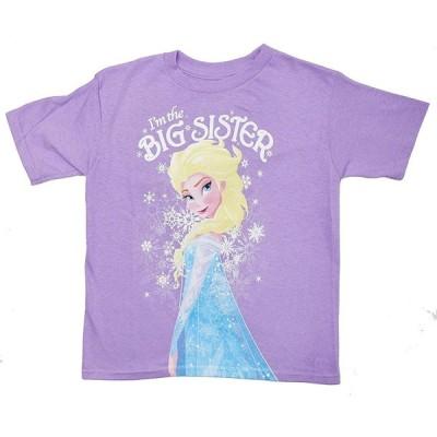 アナと雪の女王★ Disney Frozen Elsa I'm The Big Sister Kids T-Shirt 輸入品