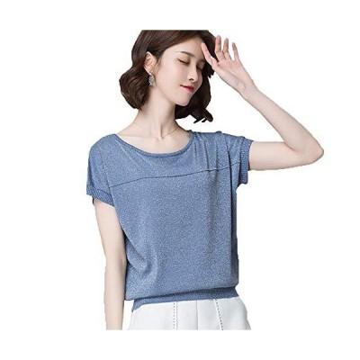 Blostirno レディス Tシャツ 大きいサイズ 半袖 バットシャツ 無地 アイスミルク 夏