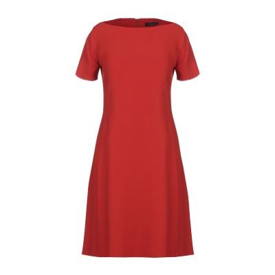 ANTONELLI ミニワンピース&ドレス レッド 40 レーヨン 70% / アセテート 26% / ポリウレタン 4% ミニワンピース&ドレス