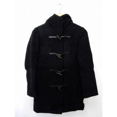 【中古】ステュディオス STUDIOUS コート アウター ダッフルコート ジップアップ ポケット ウール 0 黒 ブラック