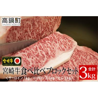 c713_tf <宮崎牛食べ比べブロックセット(ヒレ・サーロイン・リブロース)>2か月以内に順次出荷