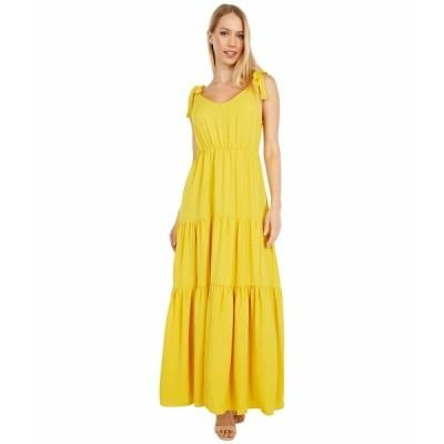 アメリカンローズ ワンピース トップス レディース Rory Maxi Dress with Shoulder Ties Golden Yellow