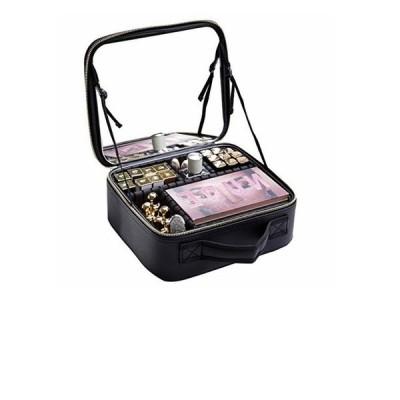 Rownyeon メイクボックス 鏡付き プロ用 化粧品収納ボックス コスメボックス ミニ化粧 ドレッサー キャリー 仕切り 高品質 メイクアップアー