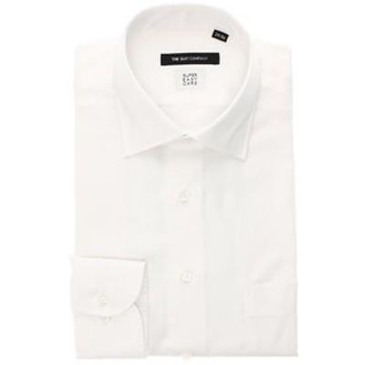【SUPER EASY CARE・再生繊維】ワイドカラードレスシャツ 織柄 〔EC・BASIC〕