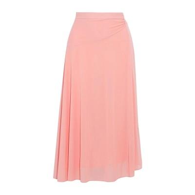 IRIS & INK 7分丈スカート ピンク 4 ポリエステル 100% 7分丈スカート