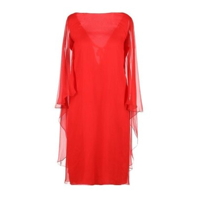 ALBERTA FERRETTI シルクドレス  レディースファッション  ドレス、ブライダル  パーティドレス レッド