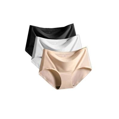 シームレスショーツ レディース パンツ 下着 肌に優しい パンティ 無縫製 レギュラー 通気性【4枚セット/3枚セ
