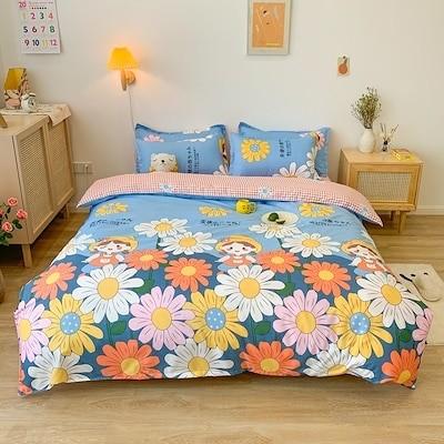 布団カバー 枕カバー シーツ 寝具 ベッドカバー 天使の赤ちゃん 四季適用 柔らか優しい肌触りキッズ 速乾 4点セット 清潔 洋式 和式兼用