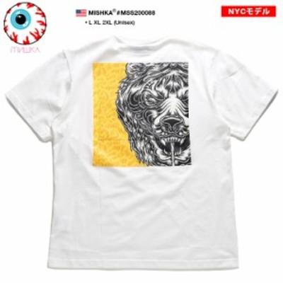 ミシカ MISHKA Tシャツ 半袖 アニマル メンズ 白 L XL 2L LL 2XL 3L XXL 大きいサイズ かっこいい おしゃれ Death Adder デスアダー 熊