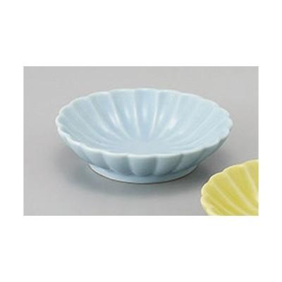 珍味 ブルー菊型豆小皿 [7.8 x 2cm]  料亭 旅館 和食器 飲食店 業務用
