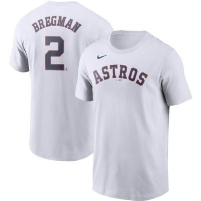 Alex Bregman ヒューストン・アストロズ Nike Name & Number T-シャツ - White