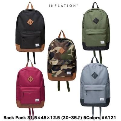 インフレーション INFLATION バッグ バックパック ユニセックス 31.5×45×12.5 (20~35?) 5カラー A121
