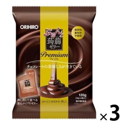 ぷるんと蒟蒻ゼリーパウチ プレミアムチョコレート 3個 オリヒロ 栄養補助ゼリー