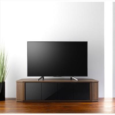テレビ台 ローボード TV台 テレビラック ガラス扉 コーナー対応 ブラックガラス 65型テレビ(重量25kg)まで対応