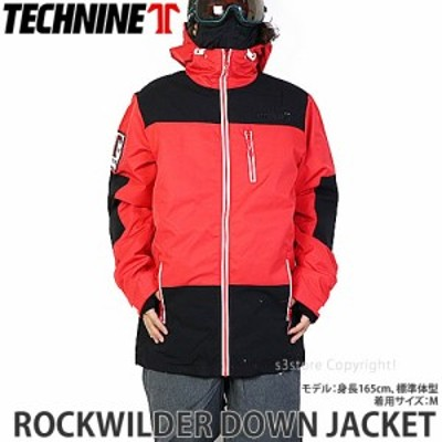 20model テックナイン ROCKWILDER DOWN JACKET カラー:Red/Black