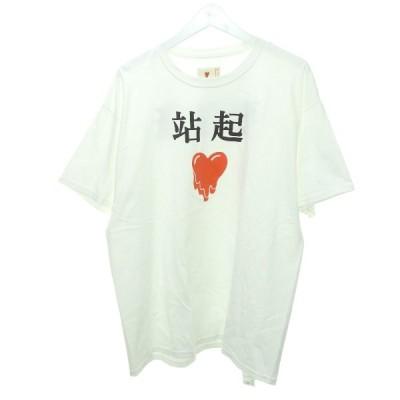 【3月18日値下】Emotionally Unavailable プリントTシャツ ホワイト サイズ:XL (渋谷店)