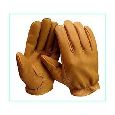 チャーチルクラシックショート手首Deerskinオートバイ手袋Made in America Tan Xlarge ブラック CS-TAN【並行輸入品】