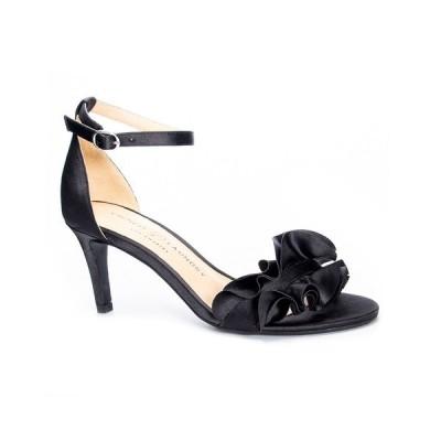 チャイニーズランドリー サンダル シューズ レディース Ruffle Women's Dress Sandals Black/Gold-Tone