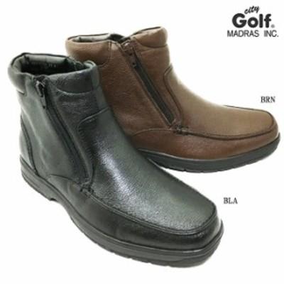 madras City Golf SPGF911A マドラス シティゴルフ メンズ ブーツ 靴 シューズ 天然皮革 本革 シボ皮 はっ水加工 防滑ソール 男性 紳士