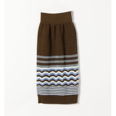 【シップス/SHIPS】 COOHEM: レトロウェーブニットスカート