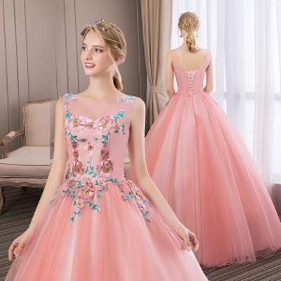 S~3XL豪華なドレス 編み上げ カラードレス ウェディングドレス ロングドレス パーティードレス 演奏会用ドレス 舞台衣装df283y6