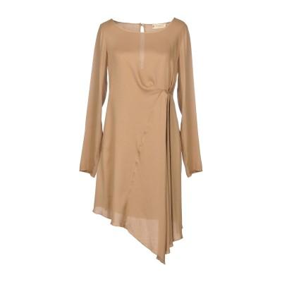 メット MET JEANS ミニワンピース&ドレス キャメル L レーヨン 100% ミニワンピース&ドレス