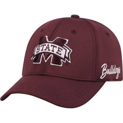 トップオブザワールド メンズ 帽子 アクセサリー Top of the World Men's Mississippi State Bulldogs Maroon Phenom 1Fit Flex Hat