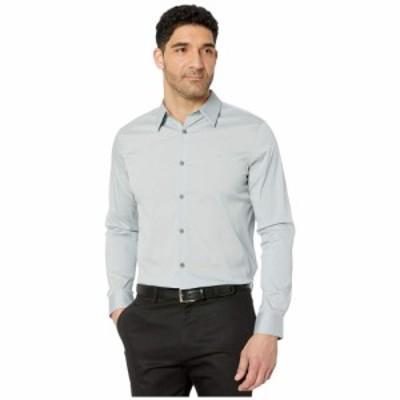 カルバンクライン Calvin Klein メンズ シャツ トップス The Stretch Cotton Shirt Quarry
