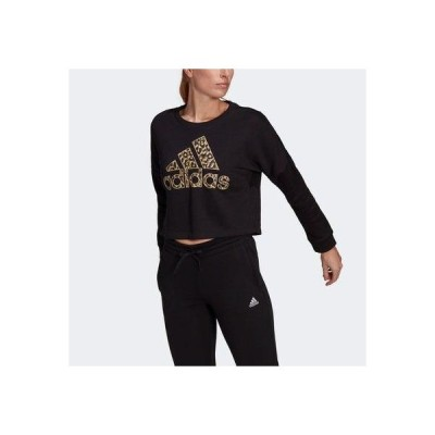 アディダス adidas レオパード グラフィック スウェット / Leopard Graphic Sweatshirt (ブラック)
