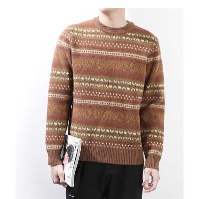 ニットセーター メンズ セーター ニット 長袖 トップス シンプル 無地 メンズニット 冬新作 防寒 あったか おしゃれ