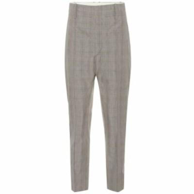イザベル マラン Isabel Marant. Etoile レディース ボトムス・パンツ Noah high-rise straight wool pants Grey