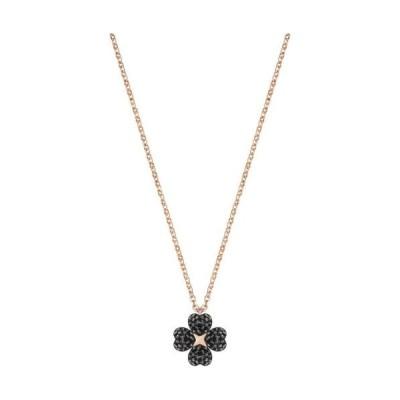 ネックレス スワロフスキー Swarovski Latisha Flower Pendant, ROS Black Crystal Authentic MIB 5420246