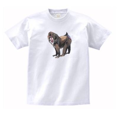 マントヒヒ 動物・生き物 Tシャツ