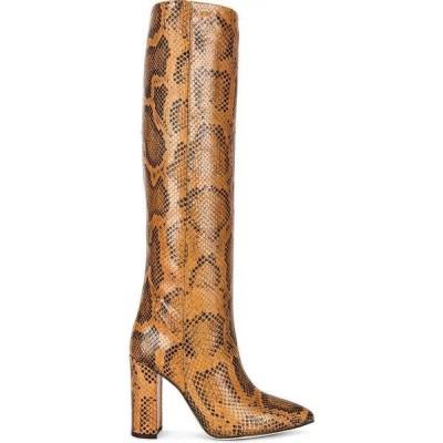 パリ テキサス Paris Texas レディース ブーツ シューズ・靴 python print 100 boot Cognac