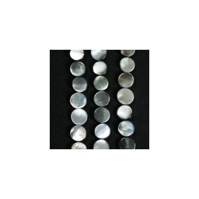 シェルパーツ 黒蝶貝 8mm ディスク 10個