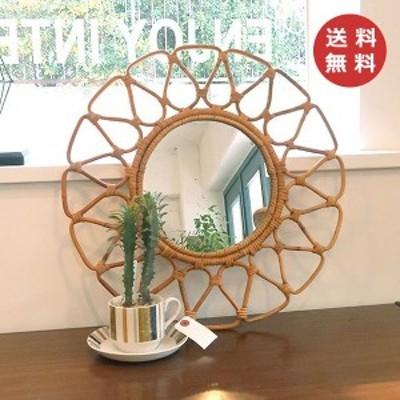 壁掛け ミラー 丸型 フラワーミラーミラー 鏡 ユグラ フラワー 花 クレエ JUGLAS 91910024 アンティーク風 Creer  おしゃれ かわいい フ