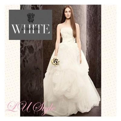 White by Vera Wang ホワイトヴェラウォン サッシュベルト付☆フレアドレス♪