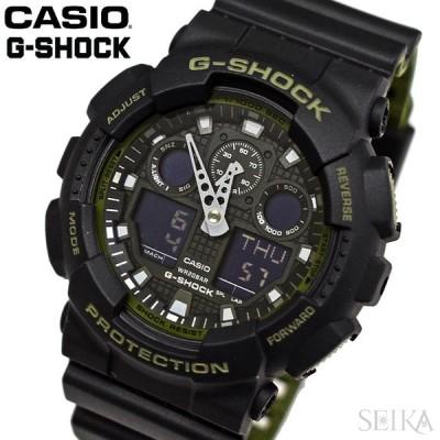 カシオ CASIO (199) GA-100L-1A GA-100L-1AER G-SHOCK 腕時計 時計 20気圧防水 メンズ アナログ デジタル ブラック カーキ