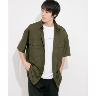 (SENSE OF PLACE by URBAN RESEARCH/センスオブプレイス バイ アーバンリサーチ)CPOシャツ(5分袖)/メンズ KHAKI