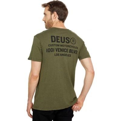 デウス エクス マキナ Deus Ex Machina メンズ Tシャツ トップス Cogs Tee Leaf Marle