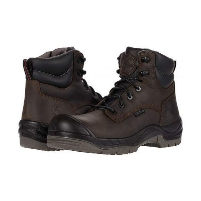 "Rocky ロッキー メンズ 男性用 シューズ 靴 ブーツ ワークブーツ Worksmart 6"" Composite Toe Waterproof - Brown"