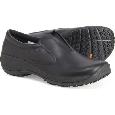 メレル Merrell レディース スリッポン・フラット シューズ・靴 Encore Moc Q2 Pro Shoes - Leather, Slip-Ons Black
